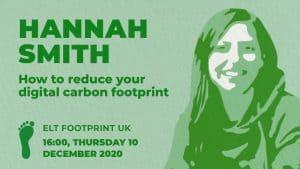 Hannah Smith speaking for ELT Footrpint UK